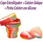Kit Coletor Menstrual UNIQUE 60ml + Copo Esterilizador Unicorn Lumma