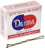Kit com 10 caixas de grampos para cabelo nº 5 cor castanho - Produto nacional
