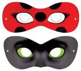 Kit com 10 máscaras Miraculous Ladybug e Cat Noir - Fabi brindes