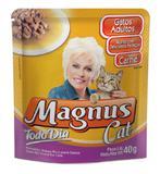Kit com 10 saches magnus cat gato carne todo dia 40 gr - Marca