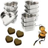 Kit Com 12 Forminhas Coração Médio Em Alumínio Pão De Mel - Caparroz