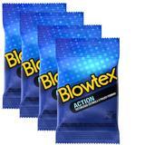 Kit com 12 Preservativo Blowtex Action c/ 3 Un Cada
