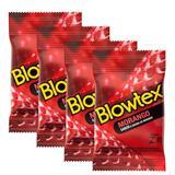 Kit Com 12 Preservativo Blowtex Morango c/ 3 Un Cada