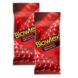 Kit com 12 Preservativo Blowtex Morango c/ 6 Un Cada