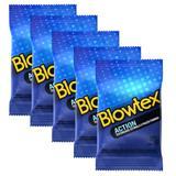 Kit com 15 Preservativo Blowtex Action c/ 3 Un Cada