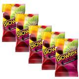 Kit com 15 Preservativo Blowtex Tutti-Frutti c/ 3 Un Cada
