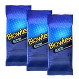Kit com 18 Preservativos Blowtex Action c/ 6 Un Cada