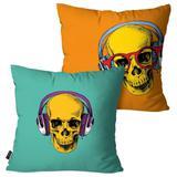 Kit com 2 Almofadas Decorativas Colors Caveiras - Pump up