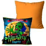 Kit com 2 Almofadas Decorativas Laranja Halloween - Pump up
