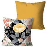Kit com 2 Almofadas Decorativas Ocre Flor - Pump up