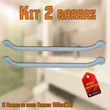 Kit com 2 Barra de Apoio Banheiro Reta 100cm(1M) Branco Soave