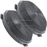 Kit com 2 Filtros de Carvão Ativado para Coifa Electrolux 60CV