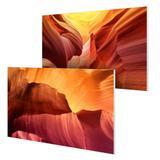 Kit com 2 placas decorativas 19x28cm cada - Grand Canyon Laranja - Galeria quadros