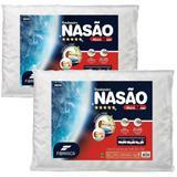 Kit com 2 Travesseiros Nasa Original Viscoelástico Confortável Dupla Face com Toque Massageador - Fibrasca