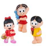 Kit Com 3 Bonecos Mordedor Para Bebê Turma Da Mônica Vinil - Mônica Magali e Rosinha - La toys