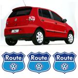 Kit Com 3 Emblemas Route Fox Space Fox Adesivo Volkswagen - Sportinox