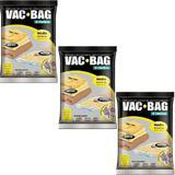 Kit com 3 Sacos À Vácuo VAC BAG Ordene Médio 45X65 Protetor Roupas