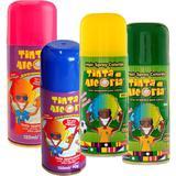 Kit com 4 Tinta Spray Cabelo Alegria Carnaval Folia 120ml - Ima aerossois