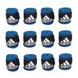 Kit com 6 Pares de Bandagem Adidas 2,55 m Azul