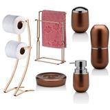 Kit Com 6 Peças P/ Banheiro Organizado - Cobre - Future