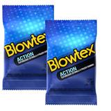 Kit com 6 Preservativo Blowtex Action c/ 3 Un Cada