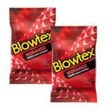 Kit Com 6 Preservativo Blowtex Morango c/ 3 Un Cada