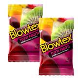 Kit com 6 Preservativo Blowtex Tutti-Frutti c/ 3 Un Cada