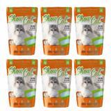 Kit com 6 Show Cat Cristais de Sílica Higiene Gatos 9,6 Kg - Ajk