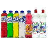 Kit Com 7 Produtos Perfumados Para Limpeza de Cozinha Triex