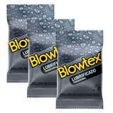 Kit com 9 Preservativo Blowtex Lubrificado  c/ 3 Un Cada