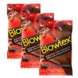 Kit com 9 Preservativo Blowtex Morango e Chocolate c/ 3 Un Cada