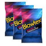 Kit com 9 Preservativo Blowtex Orgazmax c/ 3 Un Cada