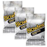 Kit com 9 Preservativo Blowtex Sensitive c/ 3 Un cada