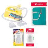 Kit com Bolsa de Transporte e Inalador Nebulizador Ultrassônico Star Premium Amarelo com Acessórios - Soniclear