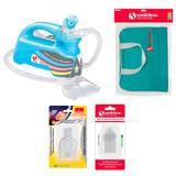 Kit com Bolsa de Transporte e Inalador Nebulizador Ultrassônico Star Premium Azul com Acessórios - Soniclear