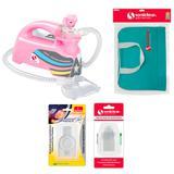 Kit com Bolsa de Transporte e Inalador Nebulizador Ultrassônico Star Premium Rosa com Acessórios - Soniclear