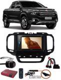 Kit Combo DVD Pioneer AVH-A208BT + Moldura de Painel 2 Din + Chicote + Câmera de Ré + Sintonizador TV Digital E-Tech Fiat Toro