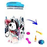 Kit Comedouro Porta Ração Com 4 Brinquedos Mordedores Pet Azul - Bandeirantes