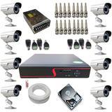 Kit Completo 8 Câmeras de Monitoramento Infravermelho com Gravador Dvr Stand Alone Acesso Nuvem P2P - Power