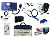 Kit Completo de Enfermagem com 8 itens - Azul - Premium