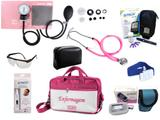 Kit Completo de Enfermagem com 8 itens - Rosa - Premium
