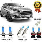Kit Completo Lampada Super Branca New Fiesta 2016 + Brinde - Skyway