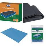 Kit Conjunto Capa e Forro para Piscina 3000L Mor