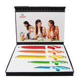Kit conjunto de facas de cozinha ceramica em inox 5 pçs coloridas profissionais para frutas, carnes - Gimp