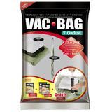 Kit Conjunto Saco A Vácuo Vac Bag 1 Médio + 2 Grande + Bomba Ordene