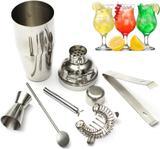 Kit Coqueteleira Completa Profissional em Aço Inox 550ml - Home