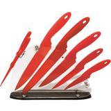 Kit Cozinha Colors 7 Peças Vermelhas Base Acrílica Fix-Ud103 Fixxar