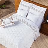 Kit de almofadas 03 peças branco - casaborda - Casaborda enxovais