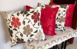 Kit de Almofadas Decorativas 4 Peças Tec Jacquard Vermelho 1 - Reluz bordados