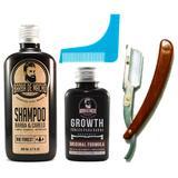 Kit de Barba Shampoo Tônico Navalha e Alinhador de Barba - Barba de macho